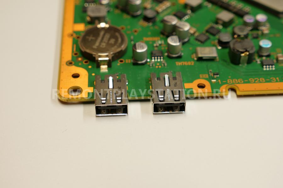 замена USB портов PS3
